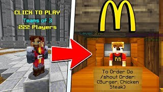 SELLING FOOD AS MCDONALDS IN HYPIXEL UHC! PART 2 (RARE OG ACCOUNT)
