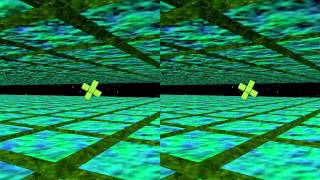 Split-Screen 3D Space Journey