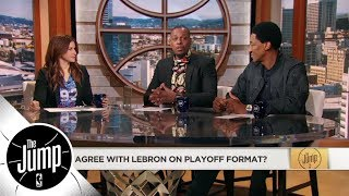 Paul Pierce disagrees with LeBron James' stance on NBA playoff format changes | The Jump | ESPN