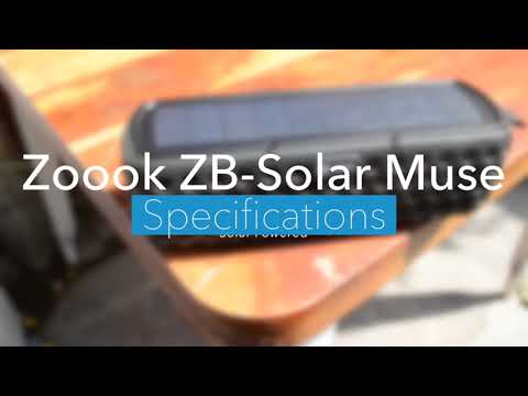 Zoook ZB-Solar Muse Bluetooth Speaker | Unboxing & First Look |