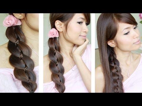 Unique braid in braid hairstyles for medium/long hair
