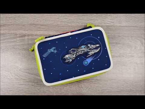 Step by Step XXL Schüleretui Space Pirate gefüllt und mit Flash Effekt auf Knopfdruck 139203