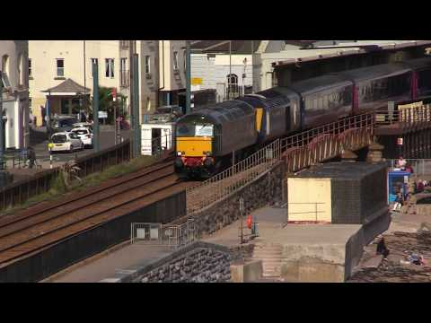 57604 drags fire damaged 43164 through Dawlish en-route to L…