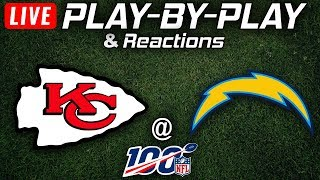 Chiefs vs Chargers |  Live Play-By-Play & Reactions