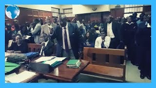 Defence lawyer Evans Ondieki applies for the rejection of an