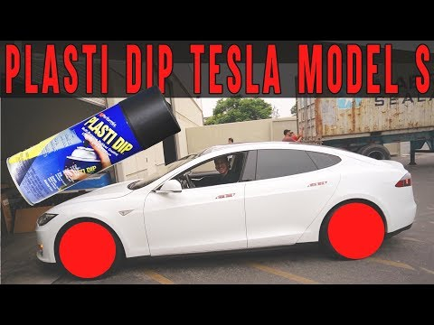 How to Plasti Dip Tesla Model S Wheels