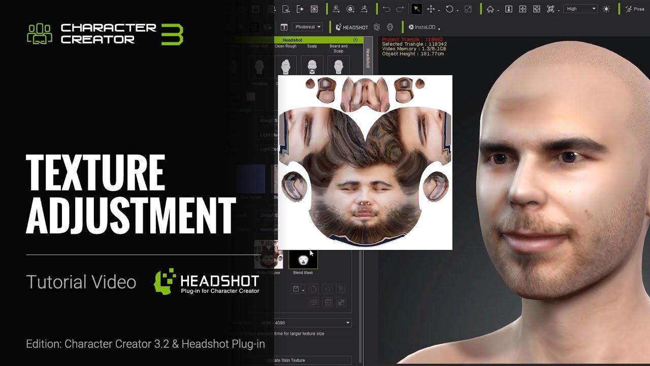 Headshot Plug-in Tutorial - Texture Adjustment