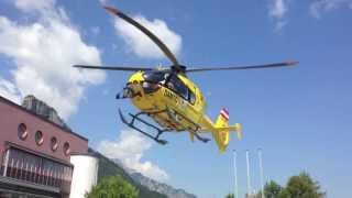 preview picture of video 'Notarzthubschrauber landet in Hallein'