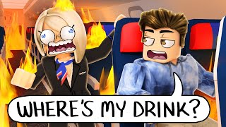 the WORST ROBLOX AIRPLANE VACATION... they forgot my DRINK