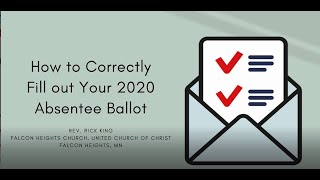 How to complete a Minnesota absentee ballot for 2020 general election
