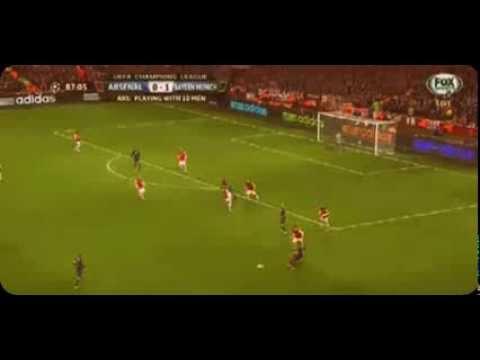 Thomas Muller Goal (Arsenal 0-2 FC Bayern München) 19/02/2013 HD UEFA