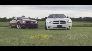 The Duramax Camaro and Cummins Charger take to the streets.