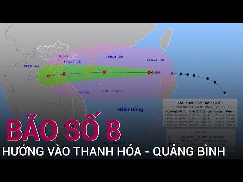 Bão số 8 Kompasu giật cấp 14, hướng vào Thanh Hóa - Quảng Bình | VTC Now