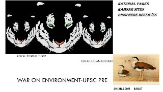 Environment, National Parks important for UPSC Prelim, In Next video Biosphere reserve and Ramasar