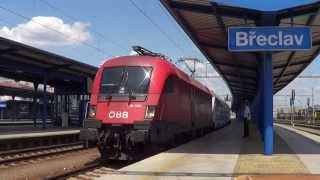 preview picture of video 'ÖBB 1116 095 @ Břeclav (Česká Republika)'