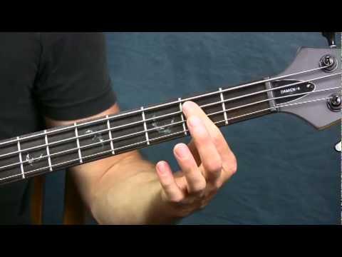 online bass guitar lesson money pink floyd