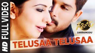 "TELUSAA TELUSAA Full Video Song || ""Sarrainodu"" || Allu Arjun, Rakul Preet || Telugu Songs 2016"