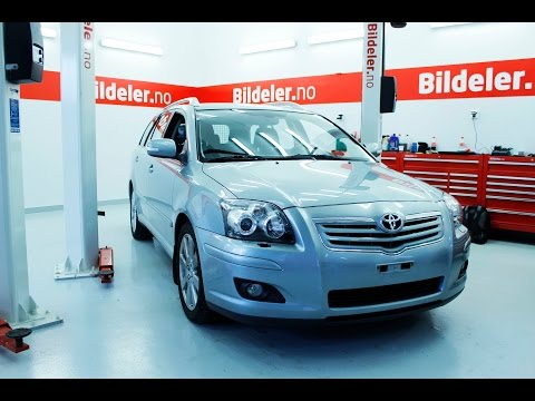 Toyota Avensis: Hvordan bytte motorolje og filter, diesel - 2003 til 2008 mod. (T25)