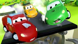 El Camión Aspiradora Giante - Carl el Super Camión en Auto City   Dibujos animados para niños