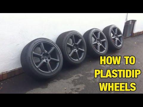How To Plasti Dip Rims - 350z Wheels DIY
