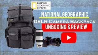 National Geographic// DSLR Camera Backpack unboxing & Review