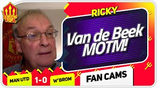 RICKY!! VAN DE BEEK IS A 10! Manchester United 1-0 West Brom Fan Cam