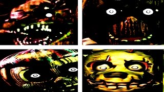 Five Nights at Freddy's 3 ALL JUMPSCARES & All Animatronics