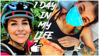 1 Day In My Life l Laser - Tattooentfernung, TikTok, Biken, Physiotherapie l MISS PEACHES VLOG