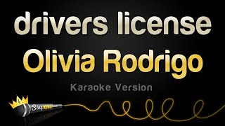 Olivia Rodrigo - drivers license (Karaoke Version)