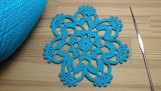 Как связать ажурный мотив крючком - урок вязания крючком - Crochet