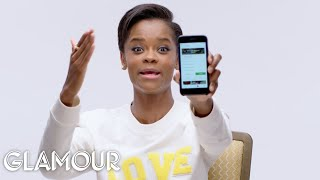 Black Panther's Letitia Wright Shows Us the Last Thing on Her Phone   Glamour