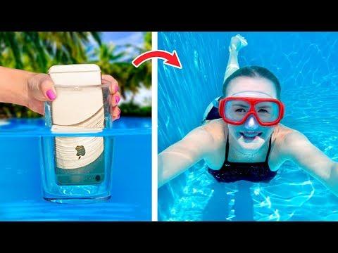 12 Simple And Funny Pool Hacks And Games / Pool Pranks