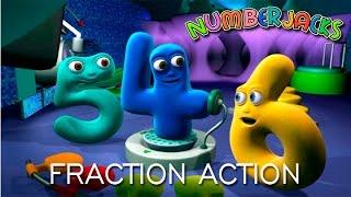 NUMBERJACKS | Fraction Action | S2E17