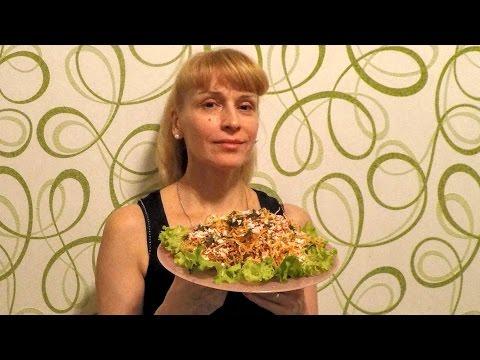 Крабовый салат с картофелем ПАЙ вкусная и легкая закуска