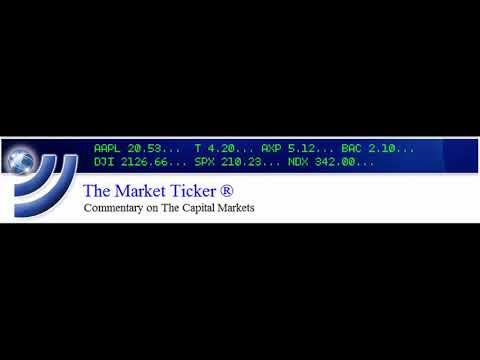 The Market Ticker  - 2020-01-21 PeachRally (Podcast)