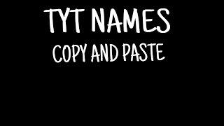 Agario|TYT NAMES! copy and paste