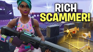 RICH Scammer tried scamming me twice! 😆 (Scammer Get Scammed) Fortnite Save The World