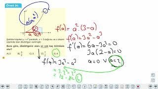 Eğitim Vadisi AYT Matematik 20.Föy Maksimum Minimum Problemleri 5 Konu Anlatım Videoları