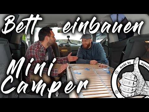 Bett in Auto bauen, im MiniCamper schlafen, - Teil 3 Auto in Mini Camper umbauen, Leben im Auto