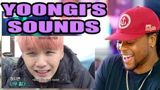 yoongi's little sound effects | Reaction!!!