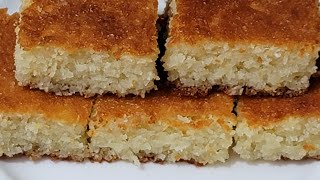 طريقة تحضير صينية جوز الهند السهلة واللذيذة Best Coconut dessert, Coconut Squares Recipe