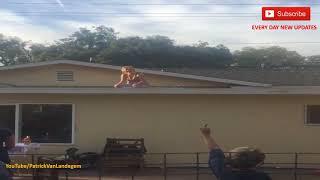 Drunk Redneck Woman Attempts To Skateboard On The Roof - Zatte vrouw op het dak