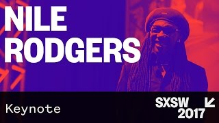 Weekend watching This Music Keynote lecture from Chic legend Nile Rodgers comes