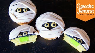 Lime Slime-Filled Mummy Cupcakes | Cupcake Jemma | Halloween Special
