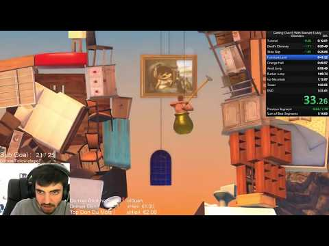 Speedrun Getting over it World Record 1:27.376