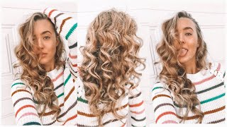 Voluminous Heatless Curls