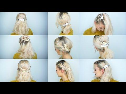 9 Frisuren mit 1 Haarschmuck | OlesjasWelt