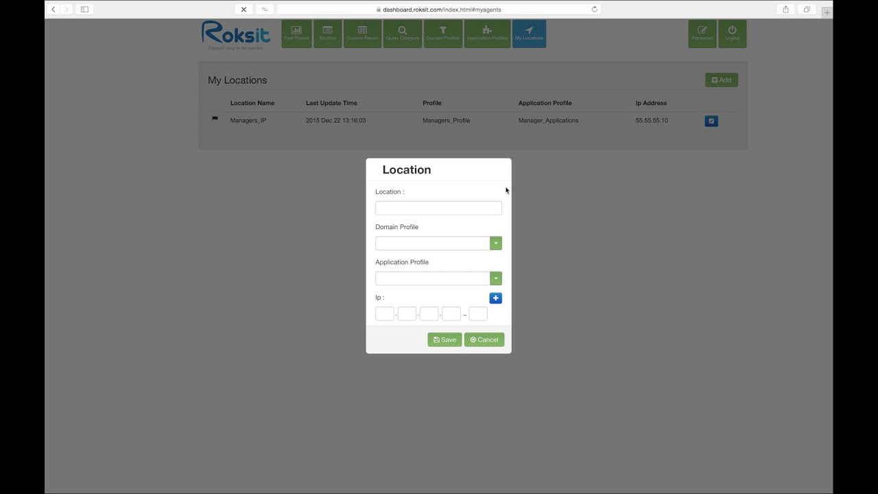 Define Your Locations and Assign Profiles on Roksit