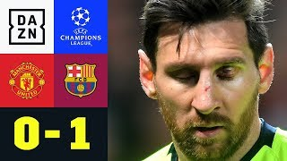 Messi & Co. Siegen Dank Eigentor: Manchester United - Barcelona 0:1 | UEFA Champions League | DAZN