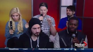 Pentatonix - Morning Show Canada + Santa Claus Is Coming To Town | 2014